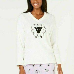 Charter Club XXL Happy Sheep Fleece Pajama Top